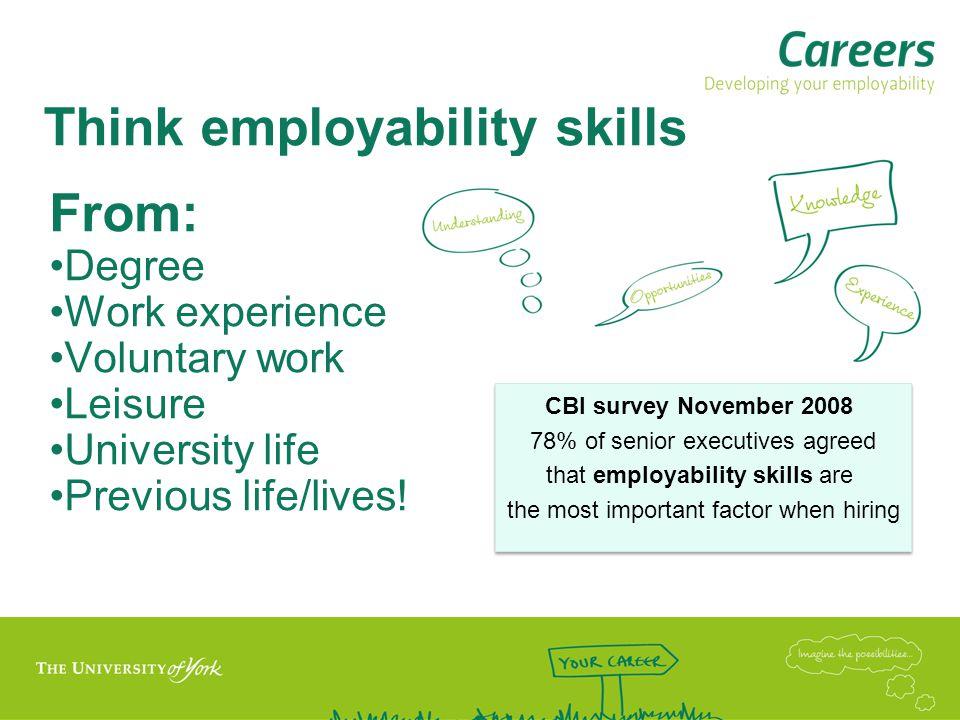 Think employability skills