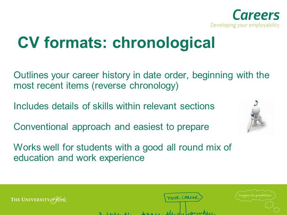 CV formats: chronological