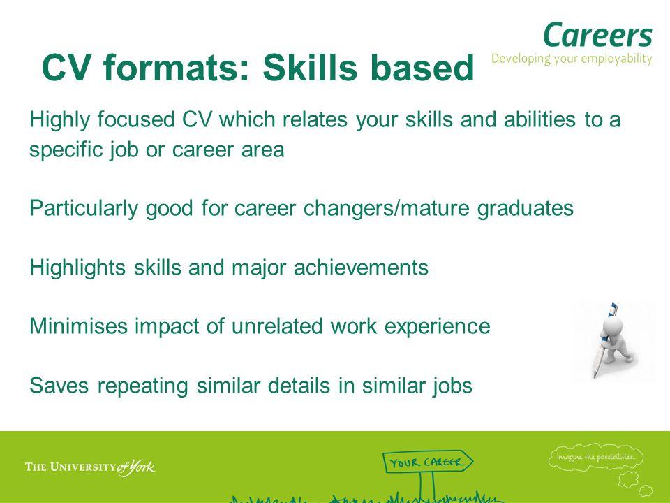 CV formats: Skills based