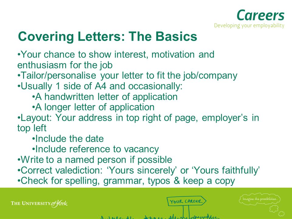 Covering Letters: The Basics