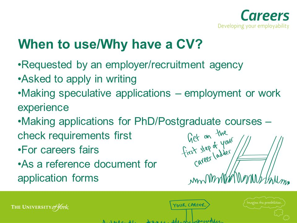 When to use/Why have a CV