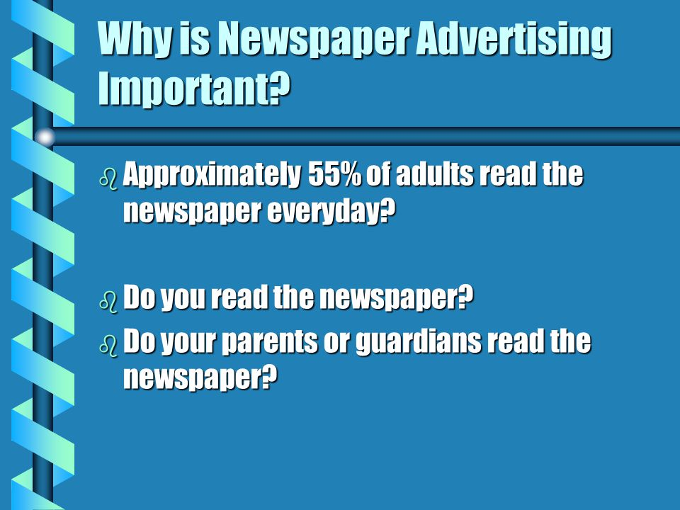 Why is Newspaper Advertising Important