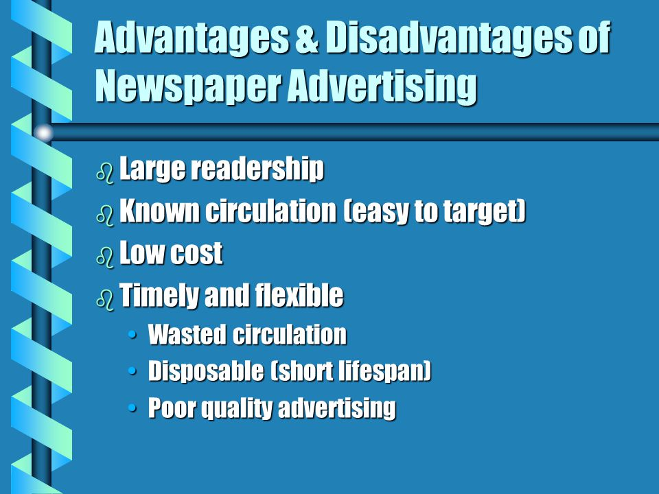advantages and disadvantages of newspapers essay This short essay on newspaper is divided into a brief introduction, its classification, advantages, disadvantages and conclusion the newspaper is a necessity in modern life.
