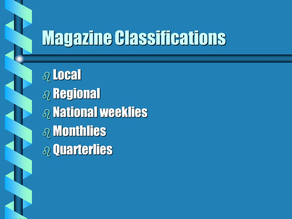 Magazine Classifications