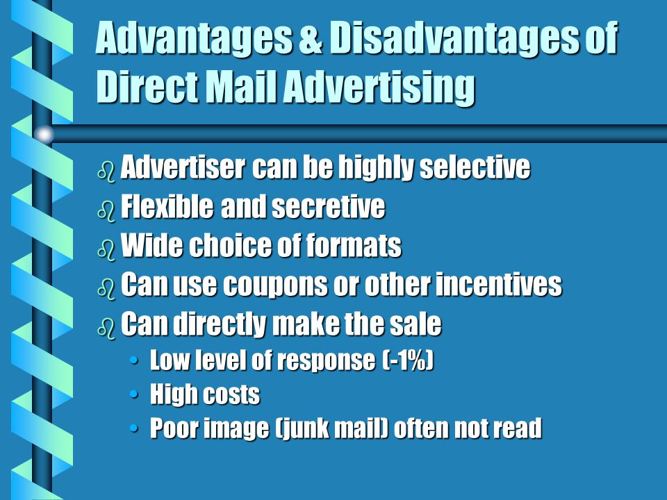 Advantages & Disadvantages of Direct Mail Advertising