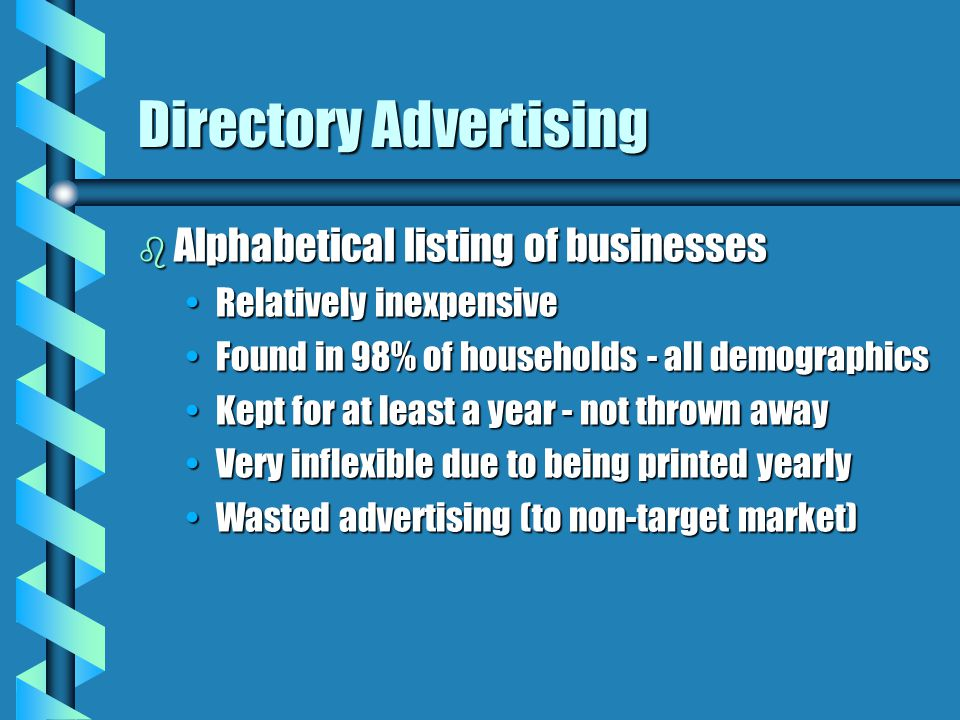 Directory Advertising