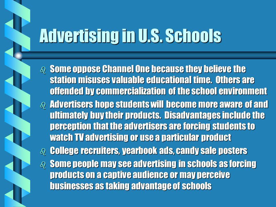Advertising in U.S. Schools