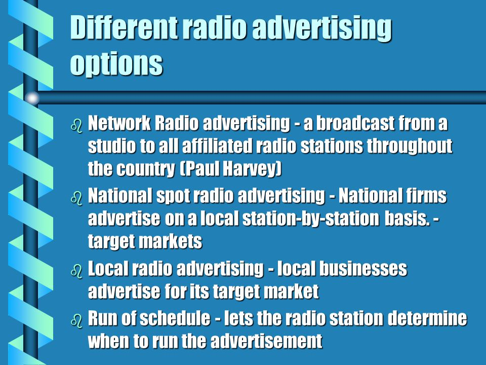 Different radio advertising options