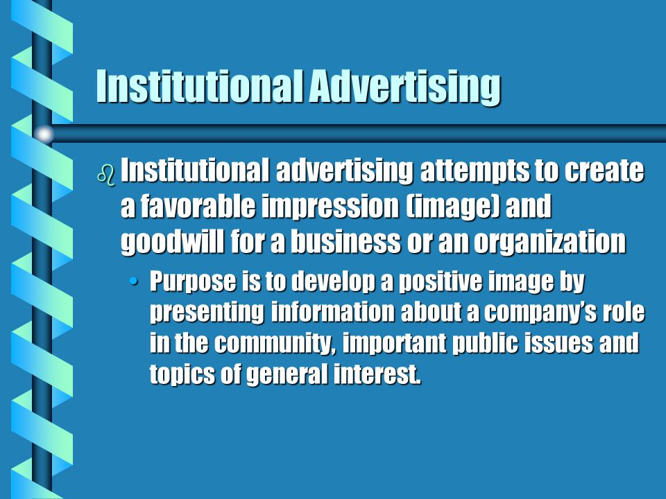 Institutional Advertising