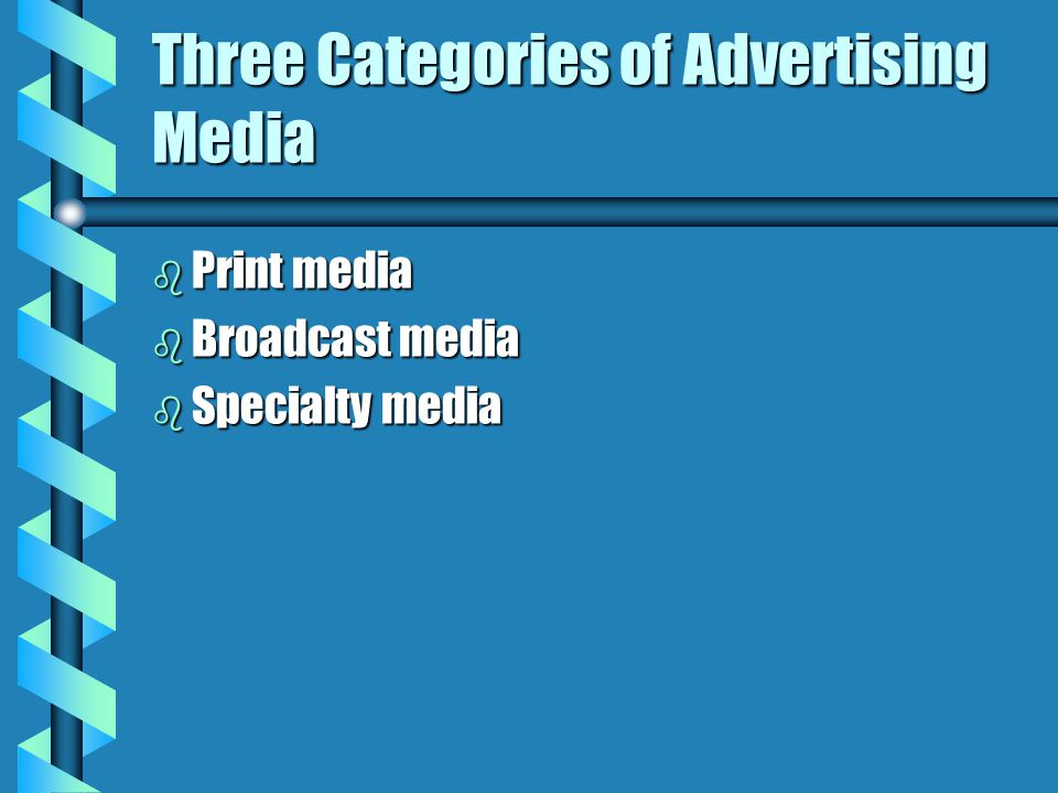 Three Categories of Advertising Media