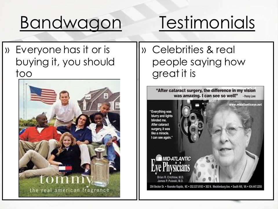 Bandwagon Testimonials Everyone has it or is buying it, you should too