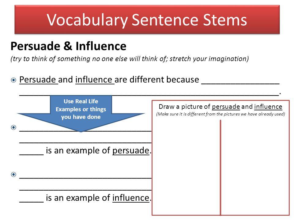 Vocabulary Sentence Stems