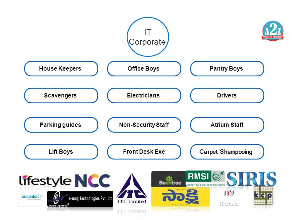 IT Corporate n9 news House Keepers Office Boys Pantry Boys Scavengers