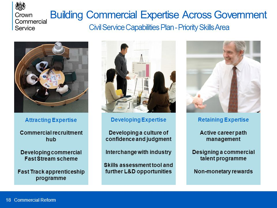 Building Commercial Expertise Across Government Civil Service Capabilities Plan - Priority Skills Area