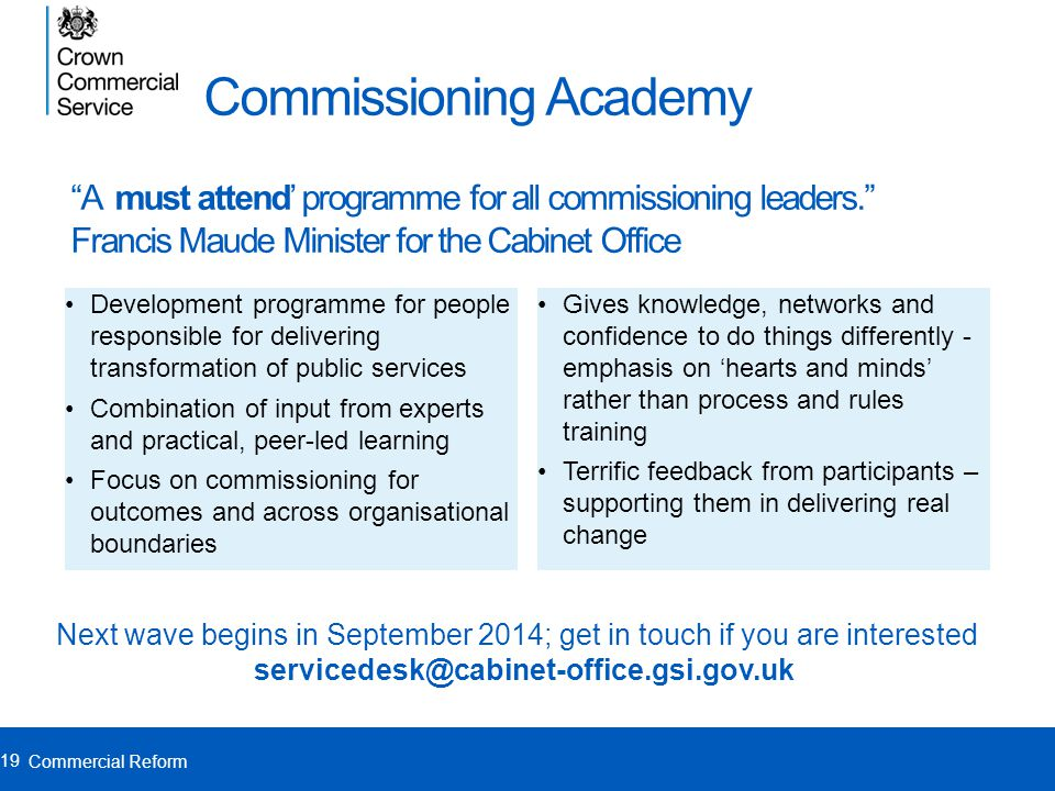 Commissioning Academy