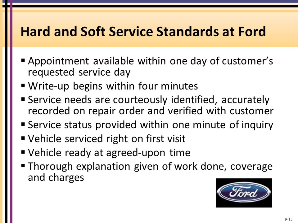 Hard and Soft Service Standards at Ford