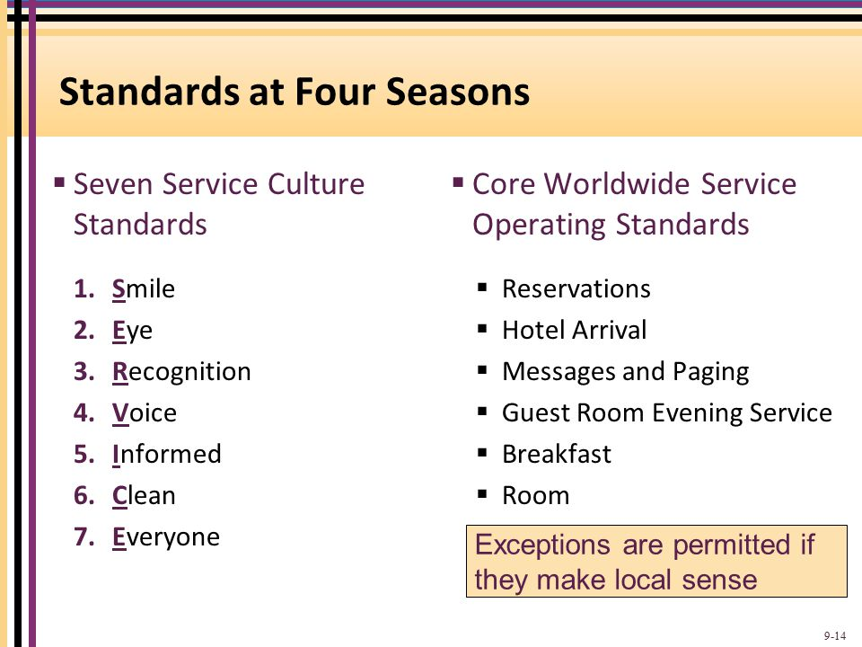 Standards at Four Seasons