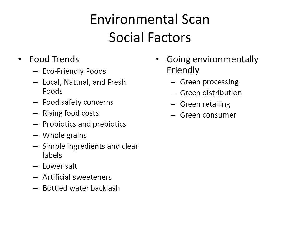 Environmental Scan Social Factors