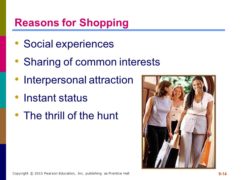 Sharing of common interests Interpersonal attraction Instant status
