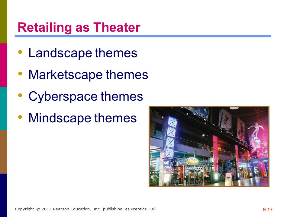 Retailing as Theater Landscape themes Marketscape themes