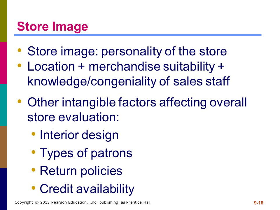 Store image: personality of the store