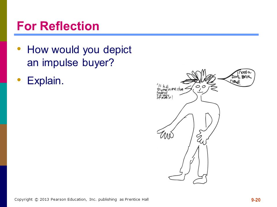 For Reflection How would you depict an impulse buyer Explain.