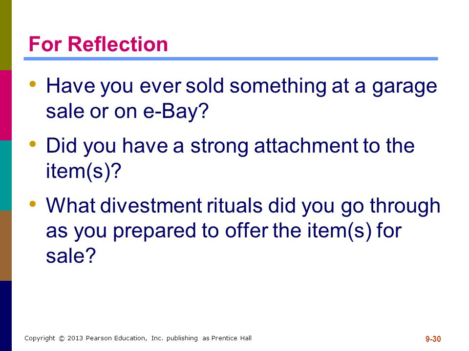 Have you ever sold something at a garage sale or on e-Bay