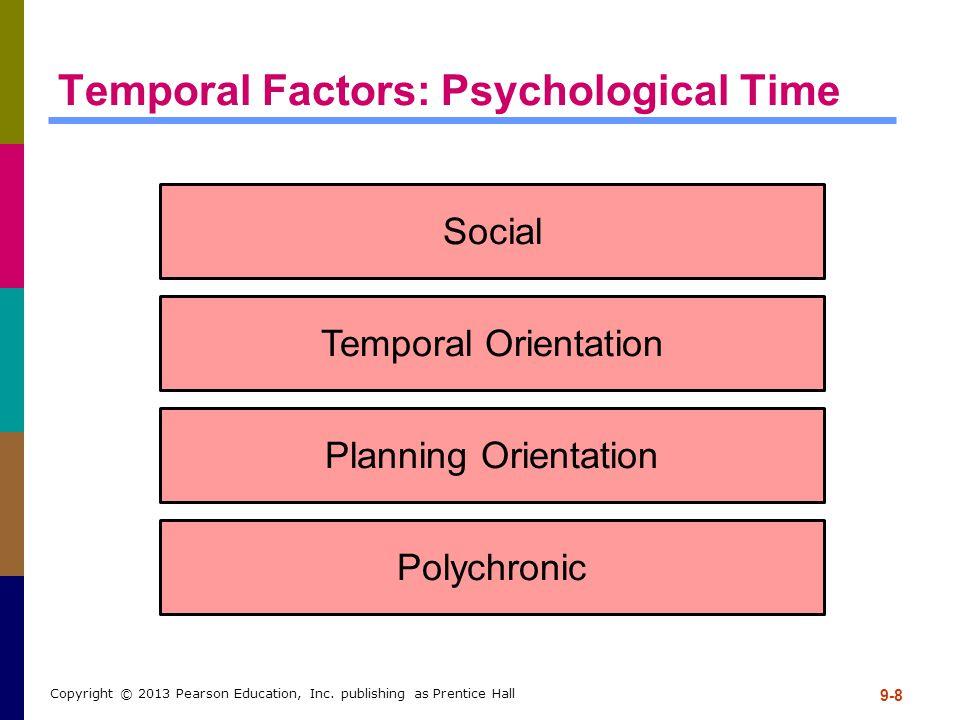 Temporal Factors: Psychological Time