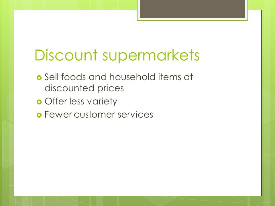 Discount supermarkets