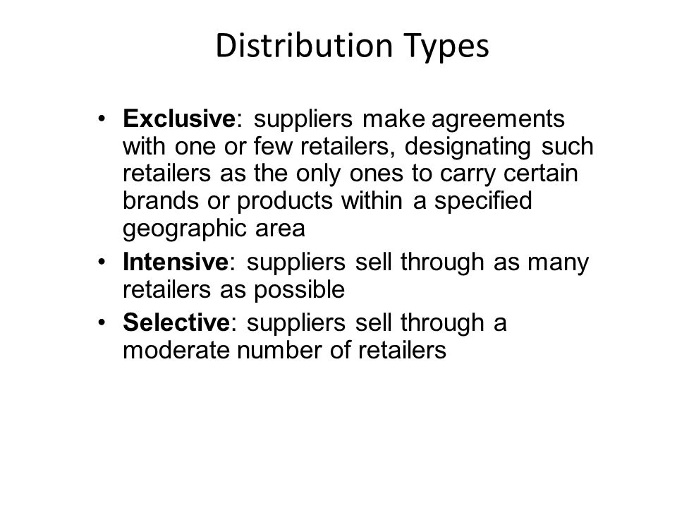 Distribution Types