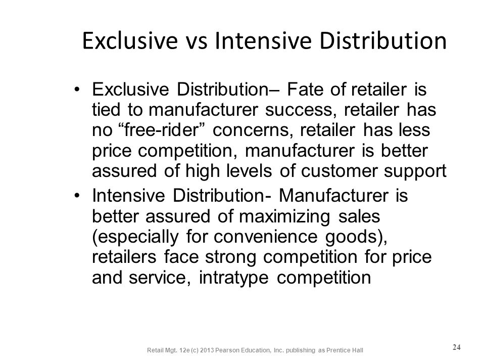 Exclusive vs Intensive Distribution