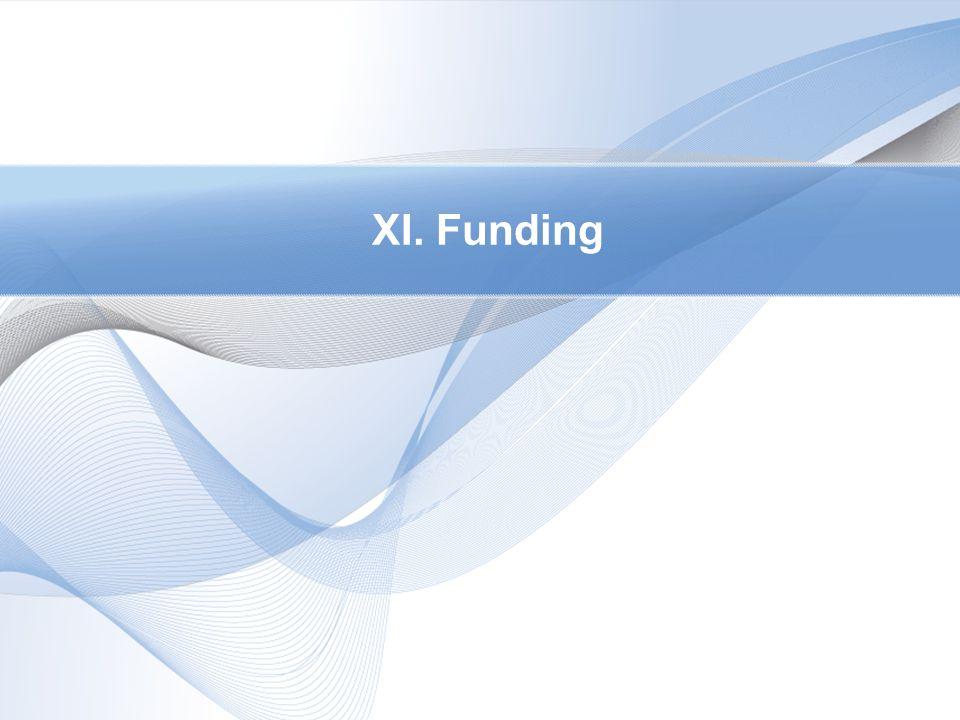 XI. Funding