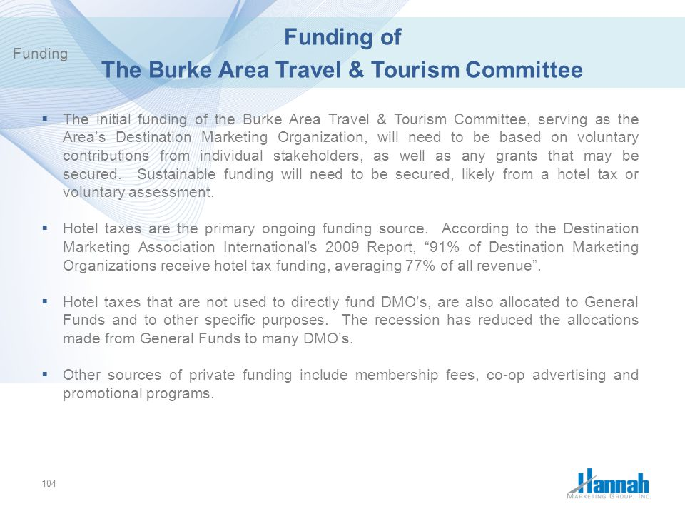Funding of The Burke Area Travel & Tourism Committee