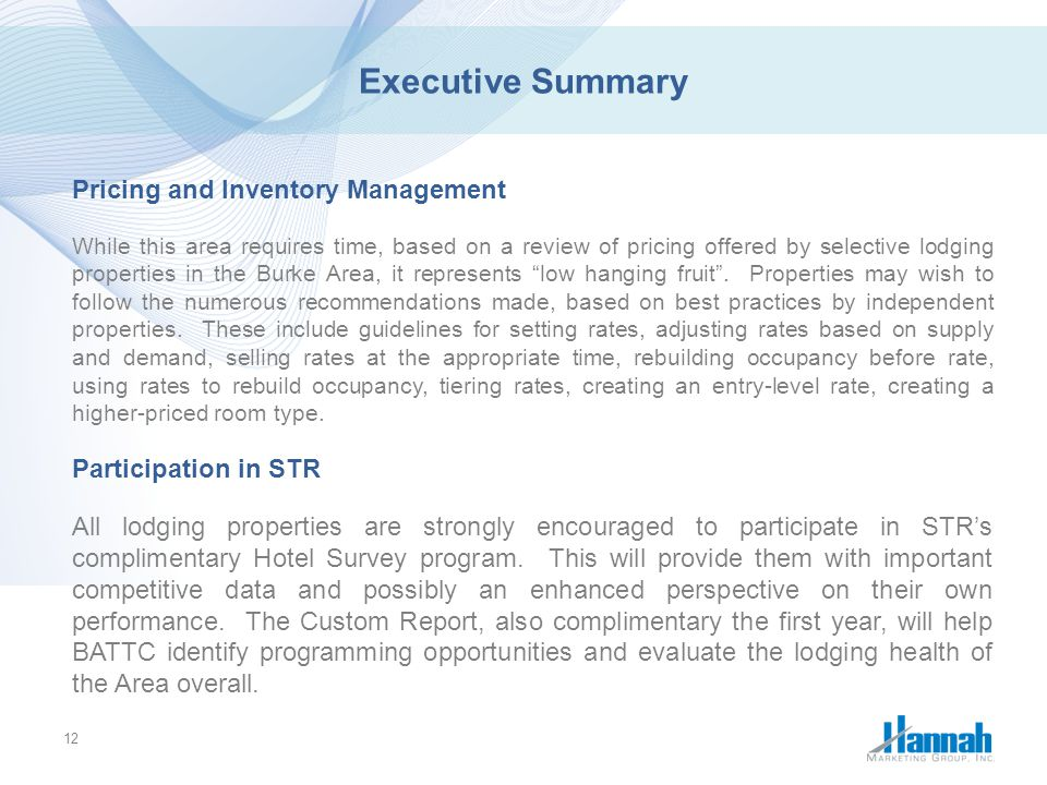 Executive Summary Pricing and Inventory Management
