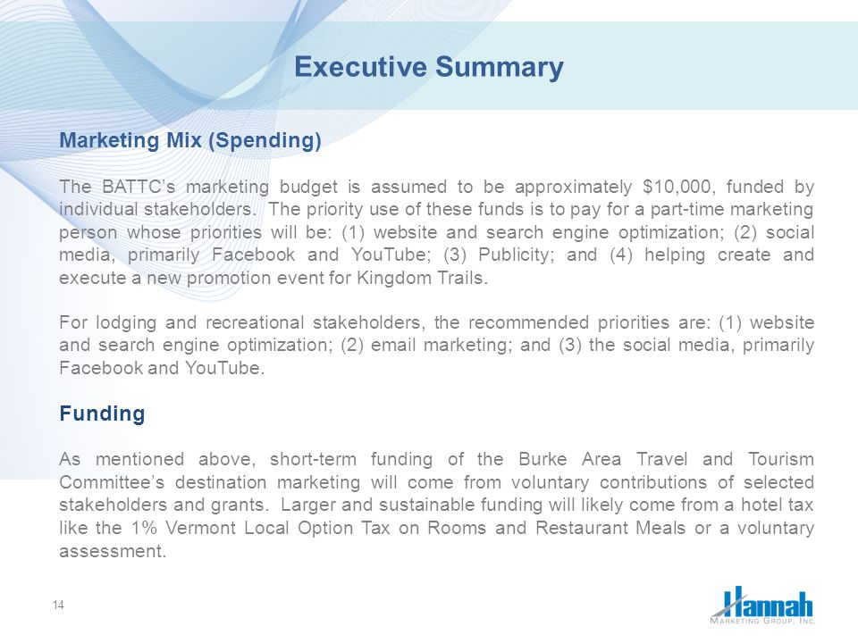 executive summary marketing mix Executive summary of our special report on digital marketing  marketing  strategy is being redefined by a new generation of leaders who are.