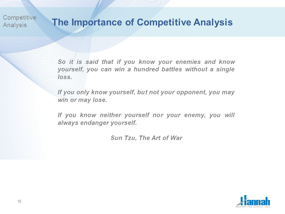 The Importance of Competitive Analysis