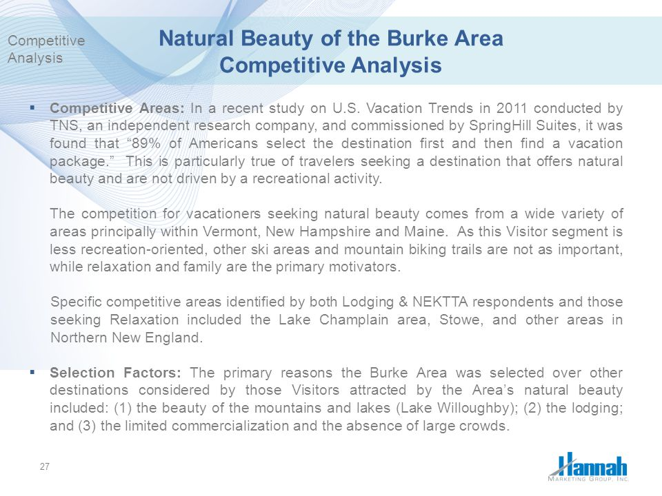 Natural Beauty of the Burke Area Competitive Analysis