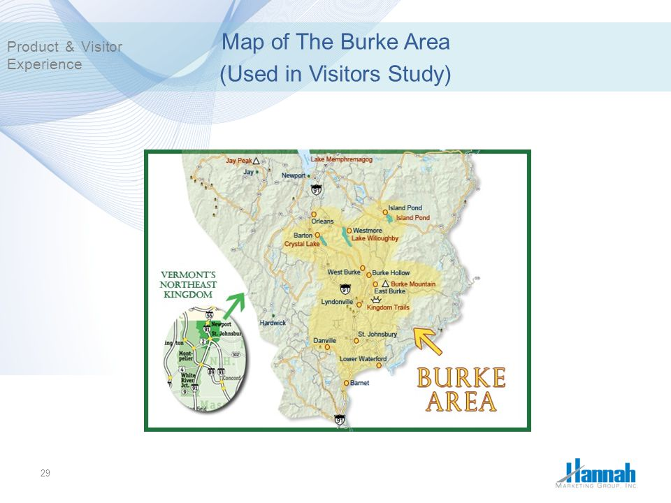 Map of The Burke Area (Used in Visitors Study)