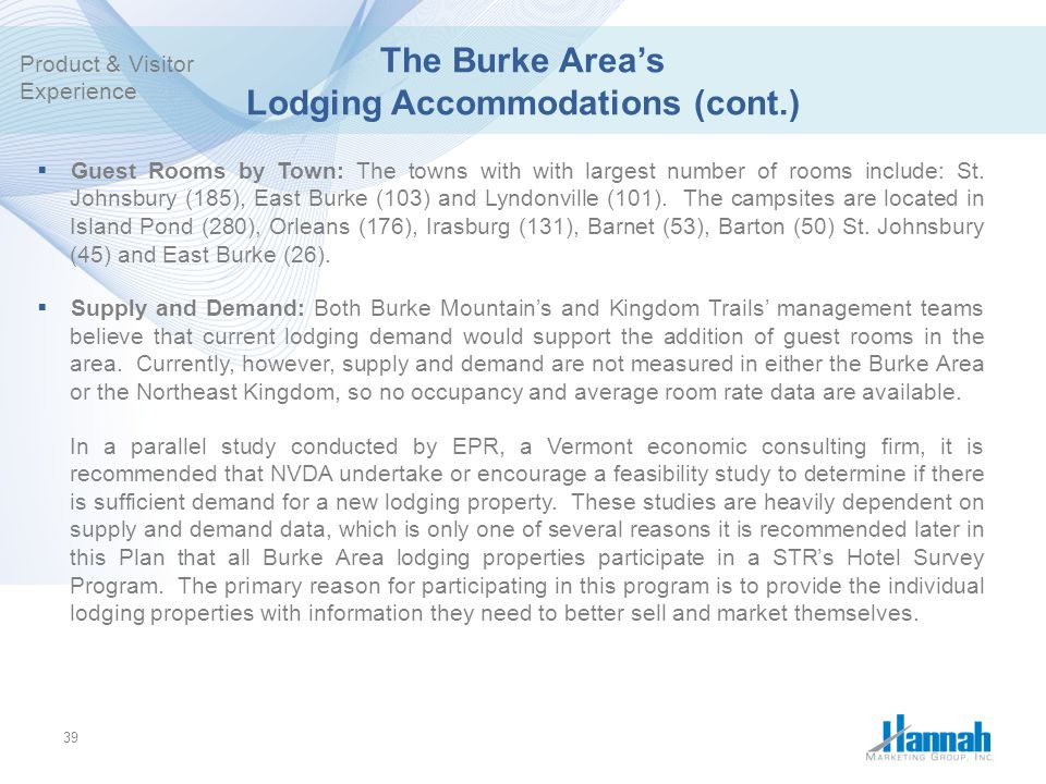 The Burke Area's Lodging Accommodations (cont.)