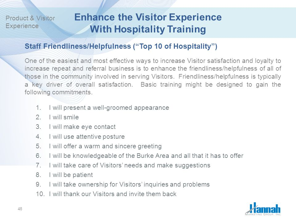 Enhance the Visitor Experience With Hospitality Training