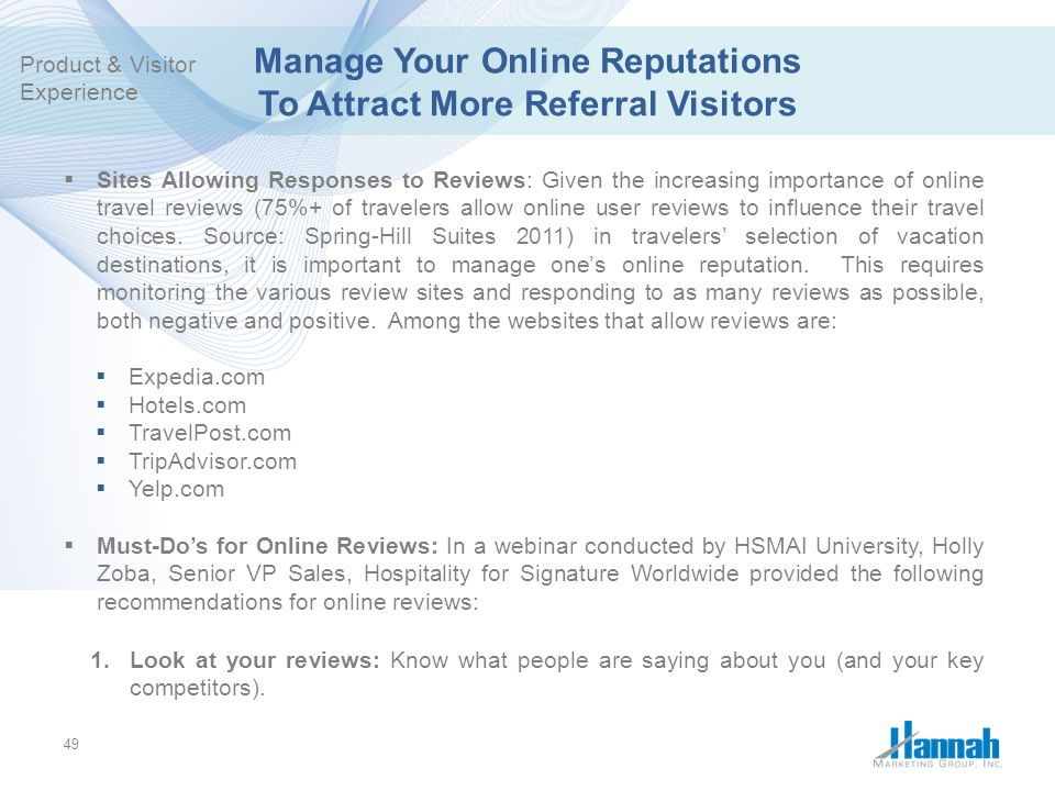 Manage Your Online Reputations To Attract More Referral Visitors