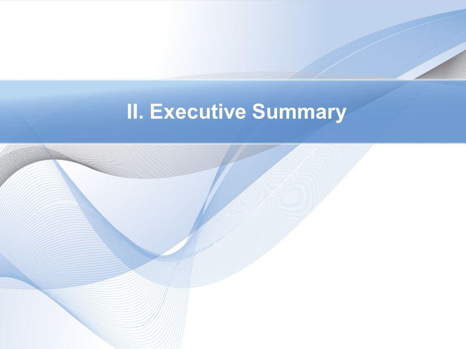 II. Executive Summary