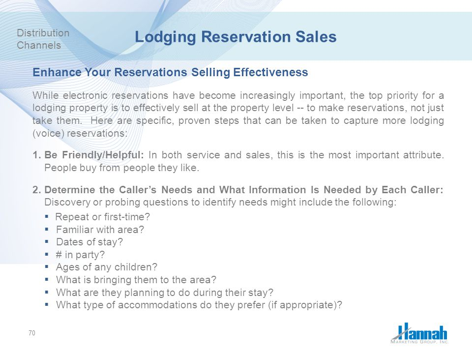 Lodging Reservation Sales