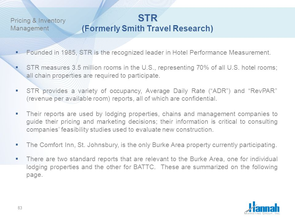 STR (Formerly Smith Travel Research)