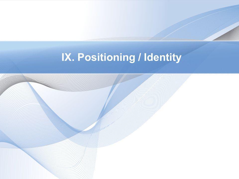 IX. Positioning / Identity