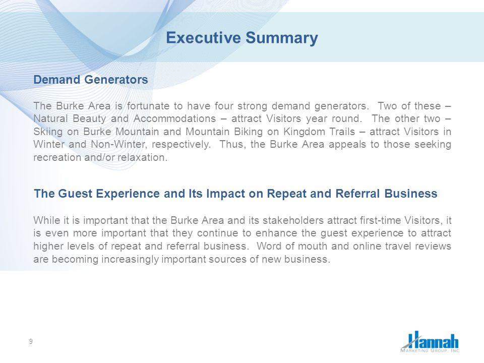 Executive Summary Demand Generators