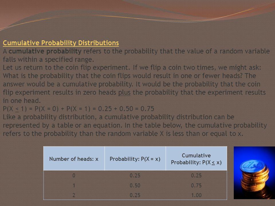 Cumulative Probability: P(X < x)