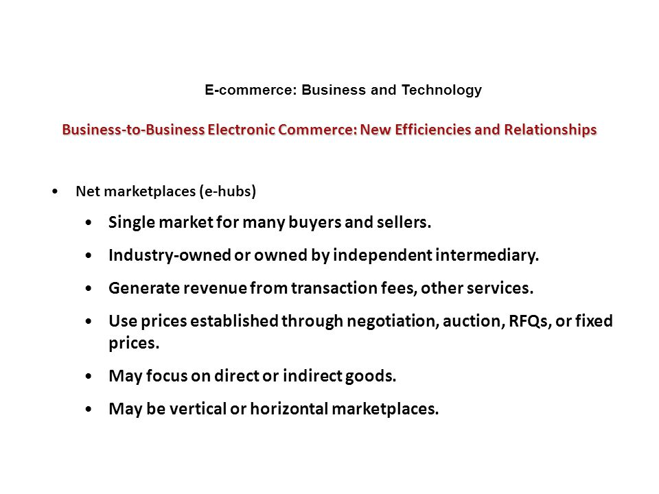 E-commerce: Business and Technology