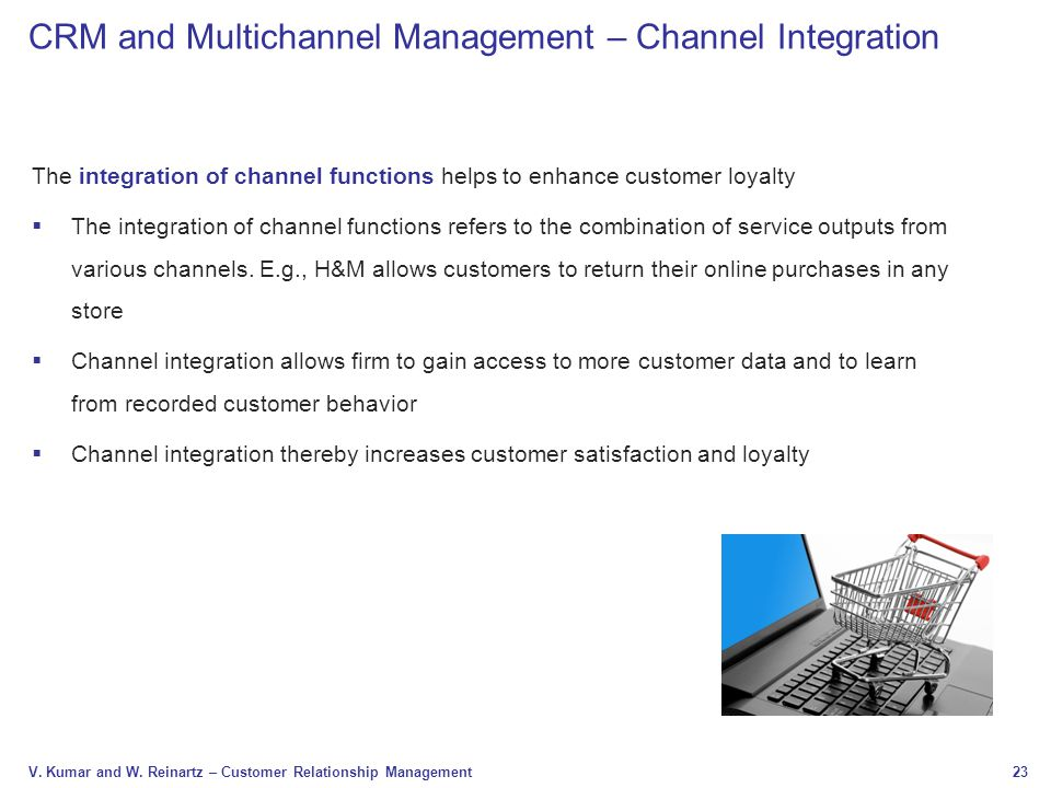 CRM and Multichannel Management – Channel Integration