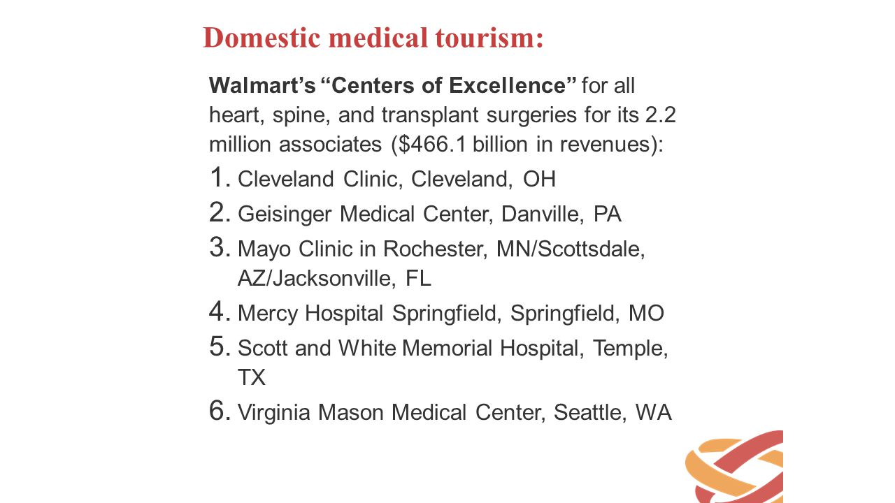 Domestic medical tourism: